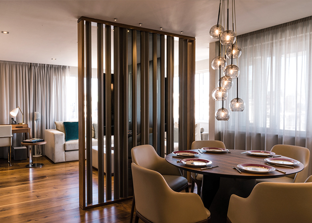 London Apartment Interior - Dining Screen