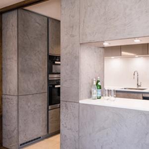London Apartment Kitchen