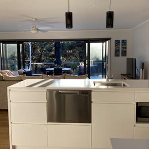 Waiheke Kitchen - view towards deck